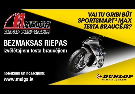Vai tu gribi būt SportSmart 2 MAX testa braucējs?
